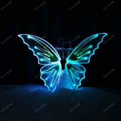 LED light up butterfly wings for kids,glowing dance props